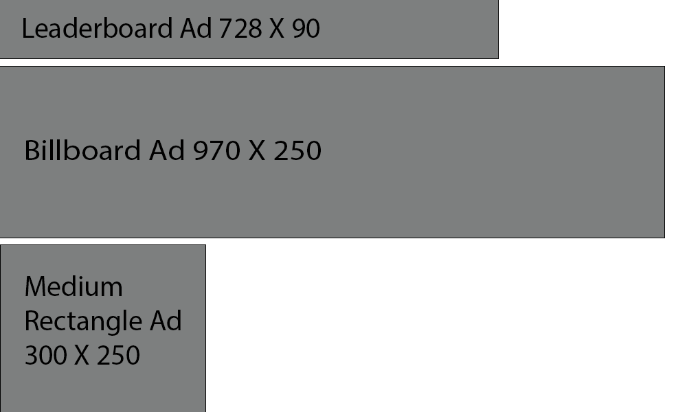 Ad size samples